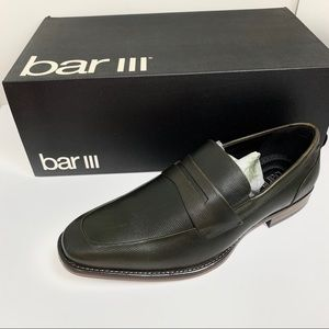 NIB NWT Bar III beau green slip-on loafers